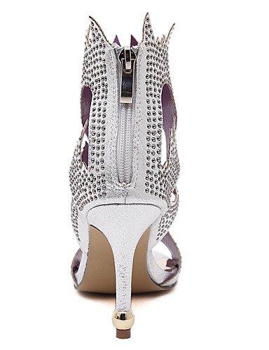LFNLYX Chaussures Femme-Mariage / Habillé / Décontracté / Soirée & Evénement-Noir / Blanc-Talon Aiguille-Talons / Bout Ouvert / Confort / Black