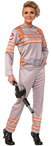 Karnevalsbud - Damen Karneval Kostüm Anzug Ghostbuster, Grau, Größe S