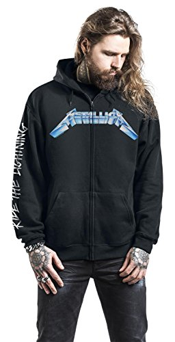 Metallica Ride The Lightning Sweat à capuche zippé noir Noir