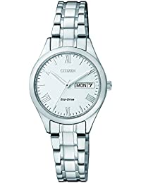 Citizen Damen-Armbanduhr Analog Quarz Edelstahl EW3196-81AE