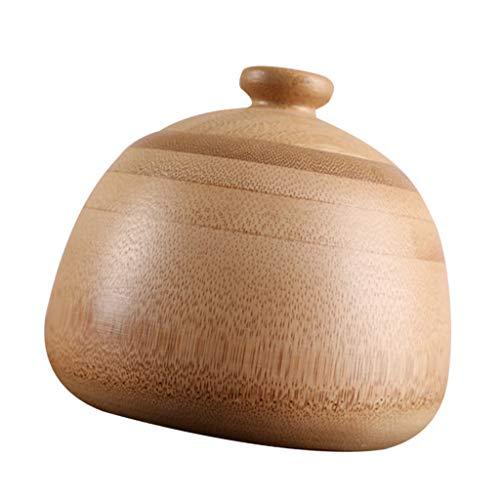 Baoblaze Bambus Kaffeedose Teedose Vorratsdose - Vorratsbehälter mit Deckel