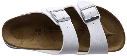 Birkenstock Arizona Birko-Flor, Mules Adulte Mixte Blanc - Blanc