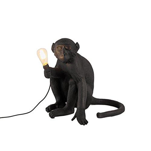 ZWD Lustre animal, créative magasin de vêtements noir Résine lustre chambre d'enfants décoration lustre corde de chanvre lustre lampe murale lampe de table lampe de plancher Luminaire (Couleur : C)