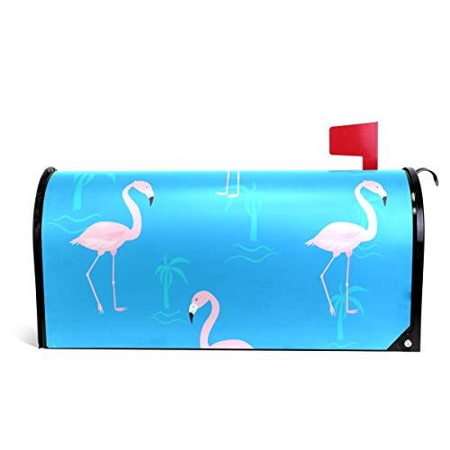 Alaza Briefkastenabdeckung, magnetisch, Motiv: niedliche Flamingos, 64,5 x 5,8 cm
