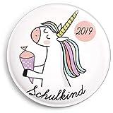 dabelino Schulkind 2019 Button: Einhorn (Mädchen) Ø 38 mm