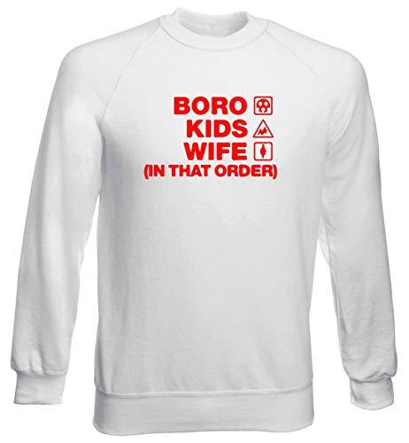 T-Shirtshock Rundhals-Sweatshirt fur Mann Weiss WC1076 Stevenage Boro