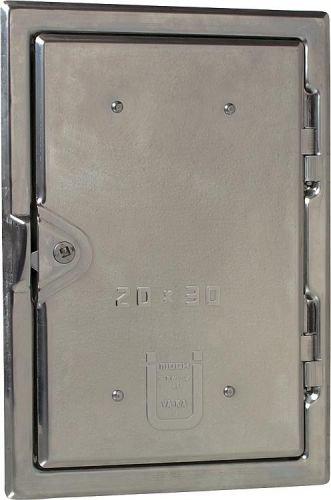 Kamintüren Möck aus Edelstahl V2A Kamin Kamintür Putztüre Auswahl Größe 200x300 - Schornstein-klappe