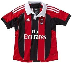 adidas Jungen Trikot AC Milan Home, acm red home 11/black/white, 128, W37478