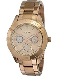 Fossil Stella Analog Rose Gold Dial Women's Watch - ES2859