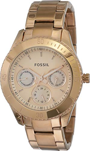 Fossil End-of-Season Stella Analog Gold Dial Women's Watch - ES2859