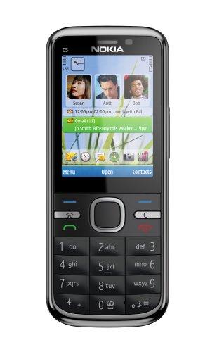 Nokia C5-00, 5MP , 1GHz, Handy, black EU ohne Simlock, ohne Branding, ohne Vertrag - Nokia Digital Flash