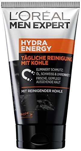 L\'Oréal Men Expert Hydra Energy X Kohle-Reinigung, bekämpft Hautunreinheiten (Mitesser, Akne und Pickel), ohne austrocknen, Porenverfeinernd (50ml)