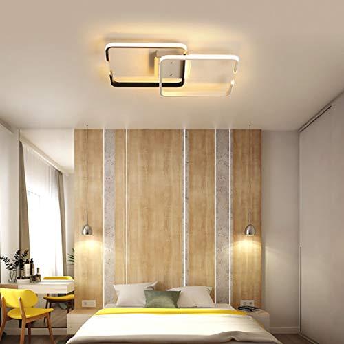 Simple moderna lámpara de techo LED Hogar creativo Rectangular dormitorio nórdico accesorio...