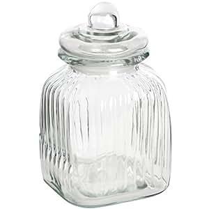 Petite carafe carrée en verre avec bouchon