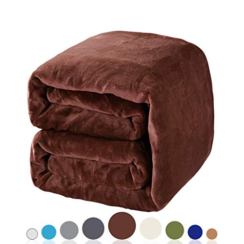 tastelife 330GSM Fleece Kuscheldecke Super Soft Warm Fuzzy leicht Couch für Bett/Sofa Decke, Mikrofaser, schokoladenbraun, Queen