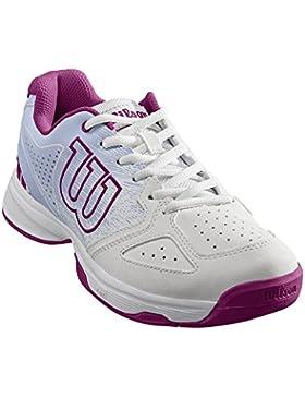 Wilson STROKE JR, Zapatillas de tenis niño, todos niveles y terrenos, , tejido/sintético