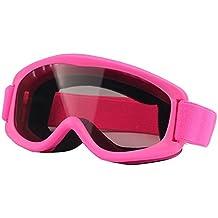 SG de 152Anti UV de Anti-Fog Lente de verkratzt Skate Esquí Snowboard Gafas con justierbarem Jacquard de sujeción para Kids (Rosa)