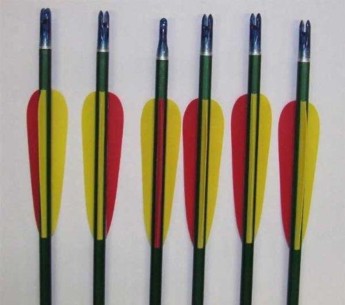 """30 Flèches / Aluminium / Longueur 30"""" = 79,3cm / Pointe Métallique Vissé / Poids 34 grammes par pièce"""