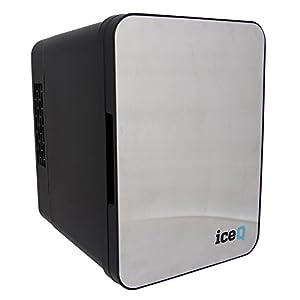 iceQ 4 Litre Small Mini Fridge Cooler - Stainless Steel / Black