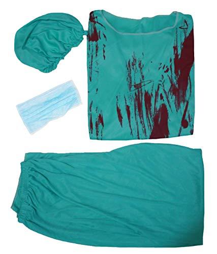 petitebelle Halloween-Kostüm Bloody Chirurg Arzt Party Kleid bis für Herren