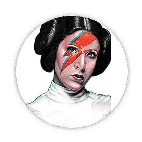 Princesse Leia Carrie Fisher Lightning Strike Imprimé Aimant de réfrigérateur 58mm Large Bouton rond fantaisie Cadeau