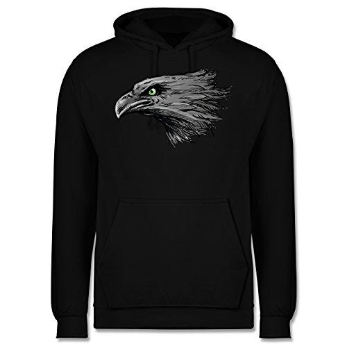 Vögel - Adler - Männer Premium Kapuzenpullover / Hoodie Schwarz