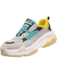 afc71369a878d HhGold Par de Zapatos para papás Zapatillas Deportivas de Verano y  Primavera. Zapatillas Retro (Color   Amarillo