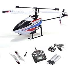 4.5canales rc helicóptero teledirigido de Single Rotor con tecnología de 2,4GHz y sistema de Gyro, Ready to fly, incluye batería y control remoto