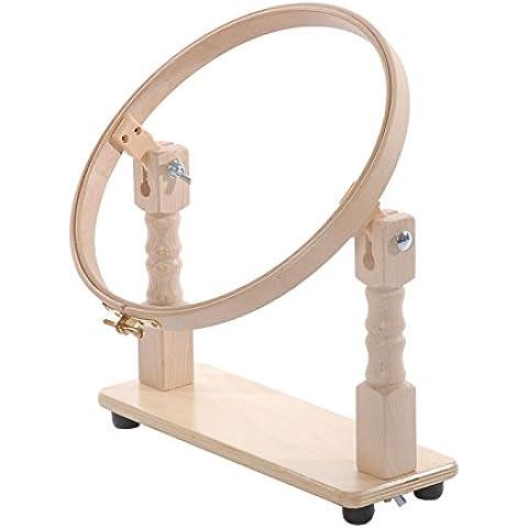 Elbesee cerchio con supporto da tavolo, legno, marrone, 20cm, 20cm - Quilting Tavolo