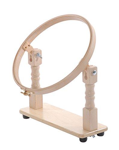 Elbesee cerchio, con supporto da tavolo, legno, marrone, 25cm - Quilting Tavolo