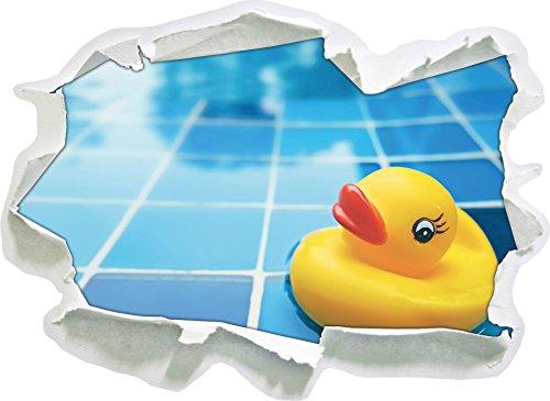 Squeaker anatra in bagno, carta 3D autoadesivo della parete formato: 62x45 cm decorazione della parete 3D Wall Stickers parete decalcomanie