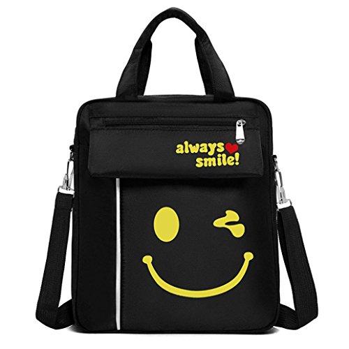 tianranrt Nylon Handtasche Messenger Schultertasche Umhängetasche Travel Schule Tasche B 28cm (L) 32cm (H) 9cm (W) (Double Umhängetasche Reißverschluss Top)