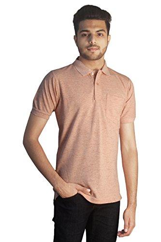 Tapasya Slub Pink Polo T-Shirt
