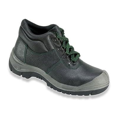 Sicherheits-Schnürstiefel Sicherheits-Stiefel ROSTOCK ÜK EN ISO 20345 S3 SRA - Weite 10,5 - schwarz - Größe: 46