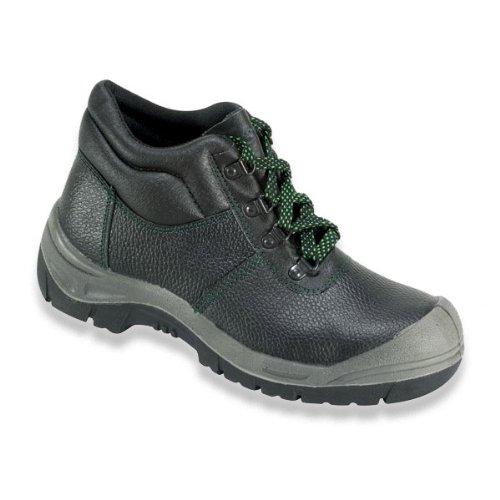 Sicherheits-Schnürstiefel Sicherheits-Stiefel ROSTOCK ÜK EN ISO 20345 S3 SRA – Weite 10,5 – schwarz – Größe: 43