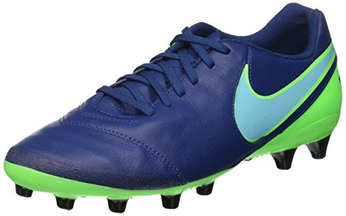 Nike Tiempo Genio Ii Leather Ag-Pro, Scarpe da Calcio Uomo, Blu (Coastal Blue/Polarized Blue/Rage Green), 43 EU