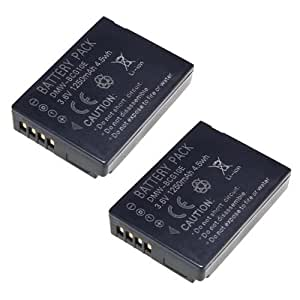 2x Battery For Panasonic DMW-BCG10E Lumix TZ6 TZ7 TZ8 TZ10 DMC-TZ20 Updated Chip