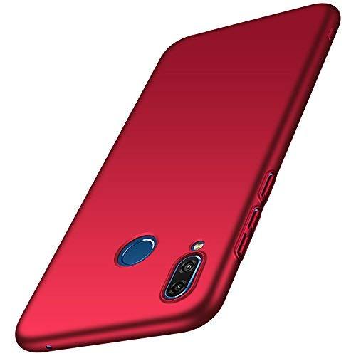 anccer Huawei Honor Play Hülle, [Serie Matte] Elastische Schockabsorption und Ultra Thin Design für Huawei Honor Play (Glattes Rot)