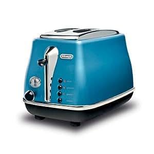 Delonghi cto 2003 b toaster 900 watt blau for Russell hobbs grille pain radio