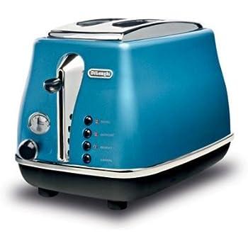 De' Longhi CTO2003B Grille-Pain/Toaster Grille-Pain Icona 2 Tranches Bleu Azur