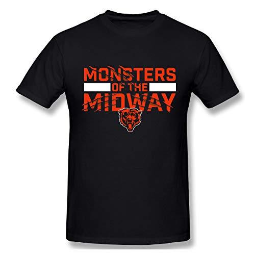 DeyAope Chicago Bears NFC North Herren Komfortabel T-Shirt Black (Kostüm Stadt Chicago)