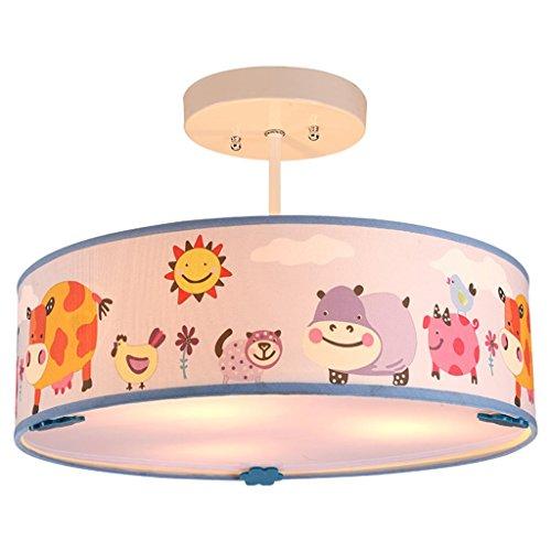 TRRE Cartoon niedlichen Tiere Runde Pendelleuchte, E14 * 3, Kinderzimmer kreative Persönlichkeit Lampen -
