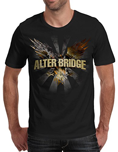 Herren-T-Shirt Alter Bridge - Blackbird 100% bauwolle LaMAGLIERIA,XL, Schwarz (Shirt Alter Bridge)