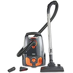 VonHaus Bagged Vacuum Cleaner – 700W Cylinder - 2.5L, Powerful, Compact & Lightweight with Adjustable Power & Speed Settings