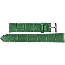 20mm Kaiser Watch Leather Band Watchband Watch Strap Gr? N 20mm Buckle: White