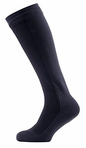 Sealskinz - calze da trekking impermeabili, per uomo, al ginocchio, uomo, calze, hiking mid knee length, black/anthracite, l