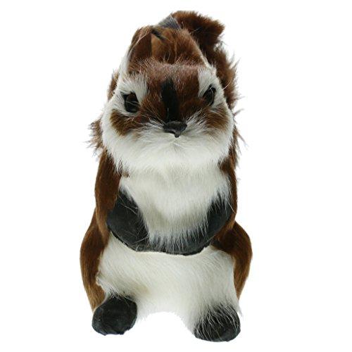 Miniatur Eichhörnchen Ornament Deko Figur Kleiner Eichhörnchen Mini Dekofiguren Tier Tischdeko - b, 10x 10x 16cm -