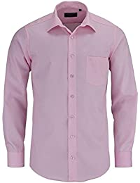 Casamoda Hemd Rosa Uni Langarm Modern Fit Leicht Tailliert Kentkragen 100% Baumwolle Bügelfrei