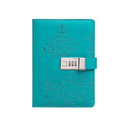 toim Rainbow Design bunt PU-Leder Tagebuch Schreiben Notebook Tägliche Notizblock mit Zahlenschloss...