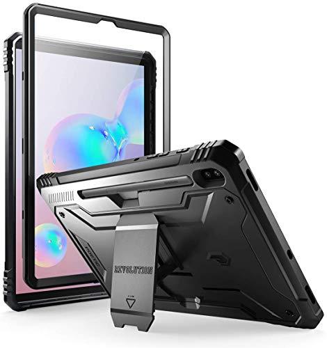 Poetic Samsung Galaxy Tab S6 Tablet Coque, Housse de Protection Antichoc à Double Couche pour l'Ensemble du matériel, Protecteur d'écran intégré, série Revolution Coque pour Galaxy Tab S6, Noir